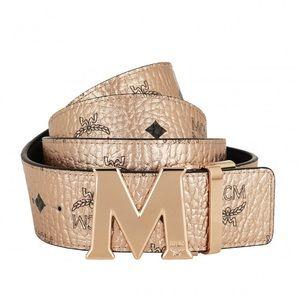 MCM Visetos Buckle Belt